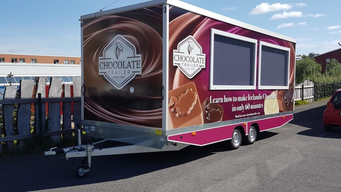 The Chocolate trailer quirky tour iceland
